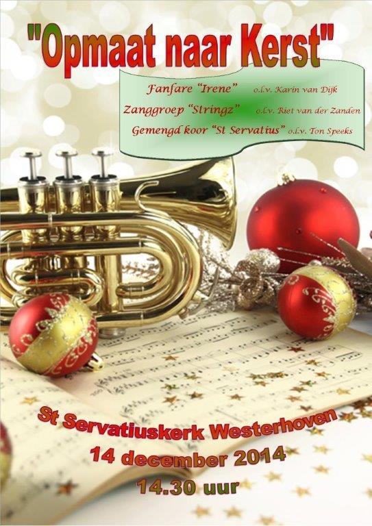 poster kerstconcert 2014